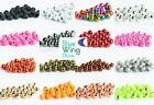 Slotted Premium Tungsten Fly Tying Beads - 25 Pack - 5 Colors - 5 Sizes