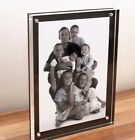 "CHESHIRE ACRYLIC desk 20MM MAGNETIC black PHOTO FRAME for 7x5"" baby christening"