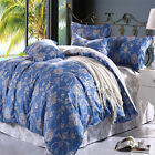 Floral 100% Cotton Doona Covers Double Queen King Bed Size Duvet Quilt Cover Set