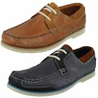 Mens Clarks Kendrick Sail Navy Or Tan Nubuck Leather Casual Lace Up Shoes