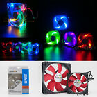 Quad LED Lights Clear 80mm 120mm PC Computer Case Cooling Fan Mod All color