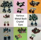 Kyпить Various CRYSTAL EYES with METAL BACKS for Teddy Bear Making Soft Toy Doll EN71 на еВаy.соm