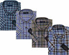 Mens Short Sleeve Summer Yarn Dyed Polycotton Check Shirt M - 2xl By Tom Hagan