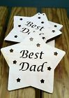 Best Dad wooden star Fathers Day gift set of 10