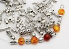 Wholesale 20/50/100pcs Tibet Silver Plated Loose Spacer Beads Charms 29 Styles