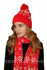 Women's Winter Christmas Scarf & Hat Set - Perfect Christmas Gift *6 Colours*