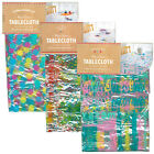"""Messy Makers Kids Wipe Clean PVC Colourful Transparent Large Tablecloth 70""""x52"""""""