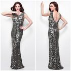 PRIMAVERA COUTURE 1578 EMBLISHED BEADED GOWN IN CHARCOAL $499 ALL  SIZES $279