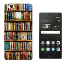 004 Library Book Shelve Case Cover For Huawei P8 P9/P8 P9 Lite Honor Y3 5 6 Mate