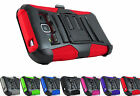 Samsung Galaxy J3 2016 Amp Express Prime Sky Hybrid Armor Case Cover Holster+Pry