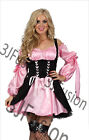 Caribbean Pirate Ladies Fancy Dress Buccaneer Hen Party Womens Costume Outfit K