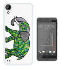 C611 Stain Glass Elephant Case Cover For HTC 10 M8 M9 A9 X9 DESIRE 530 610 825