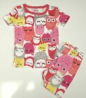 GYMBOREE SLEEPWEAR WHITE w/ MULTI COLOR OWLS A/O 2pc PAJAMAS 12 18 NWT