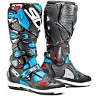 Sidi NEW 2016 Mx Crossfire 2 SRS Euro Race Black Light Blue Motocross Boots