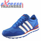 Adidas Runneo V Jog Clip Mens Classic Casual Trainers Blue