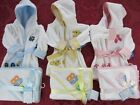 NEW Bambini Terry hooded infant baby Bath Robes Hooded towel washcloth set