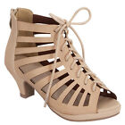 Beston CD87 Children Girl's Mid Heel Peep Toe Cut Out Gladiator Sandals