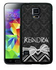 PERSONALIZED RUBBER CASE FOR SAMSUNG NOTE 3 4 5 BLACK DAMASK CHEVRON BOW