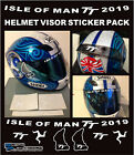 ISLE OF MAN TT COURSE STICKER KIT For Helmet Visor Motorbike Road Racing Decals