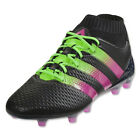 adidas Men's ACE 16.1 PrimeKnit FG/AG Black/Shock Pink/Solar Green AQ2543