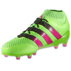 adidas Men's ACE 16.1 PrimeKnit FG/AG Solar Green/Shock Pink/Black AQ5151