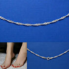 MAGIC SINGAPORE TWIST .925 SOLID Sterling Silver Anklet Bracelet 9 or 10 Inch