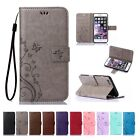 Flip Leather Wallet Cards Stand Case Cover For iPhone 4S 5 6 7 Plus SE Touch X 8