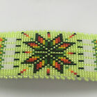 Navajo Native Handmade Star Feather Color Beaded Leather Hair Barrette