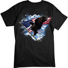 Patriotic Flying Eagle T-SHIRT USA American Flag TEE image