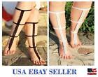 Pretty Barefoot Sandals Crochet Cotton Foot Jewelry Anklet Bracelet Ankle Chain