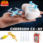 Original Cheerson CX10 Mini Nano Drone 4CH 2.4GHz 6-Axis Gyro RC Quadcopter Blue