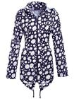 Womens Lightweight Hooded Zip Daisy Floral Raincoat Jacket Kagool Size S-XXL