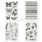 Flower Transparent Clear Silicone Stamp Rubber DIY Scrapbooking Album Decor