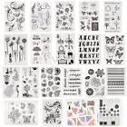 Alphabet Flower Transparent Clear Rubber Stamp Sheet Cling Scrapbooking Seal DIY