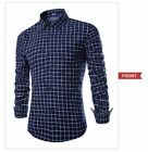 Men's European Wild Casual Cool Floral Plaid Long-Sleeved Shirt