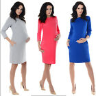 Purpless Maternity Casual Pregnancy Tulip Dress Tunic Top with Pockets 6107