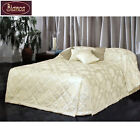 SINGLE King Single DOUBLE QUEEN - Narrissa Cream Jacquard Bedspread Reverse Sham