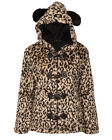 Jawbreaker Goth Gothic Punk Faux Fur Leopard Ears Jacket Winter Vegan Fur