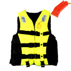 S-XXXL Polyester Adult Life Jacket Universal Swimming Boating Ski Vest Whistle