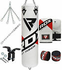 RDX Heavy Boxing Set Gloves Punch Filled Punching Bag MMA Ceiling Hook Chains BG