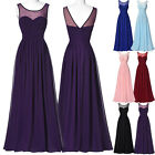Long Chiffon Cocktail Party Evening Prom Bridesmaid Dress Maxi Ball Formal Gown