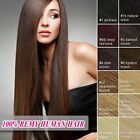 100% Real Human Hair Extensions Full Head Remy Women Clip in Hair Extensions