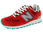 New Balance Men's Connoisseur East Coast Summer 574 Red With Silver & Blue Ashes