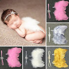 Newborn Baby Boy Girl Snowflake Headband+Feather Wing Costume Photo Prop Outfit