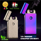 Electric DOUBLE ARCH PULSE PLASMA LIGHTER Flameless Metal Cigarette USB Gift UK