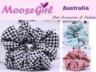 Floral Checkers Scrunchies Women Hair Ring Hair tie Ponytail Holder Rubber Band
