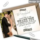 Personalised Vintage Photo Wedding Thank You Cards Free Envelopes