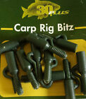 30 Plus Lead Clip Safety Clips Weed Green 10 per pack (R909)