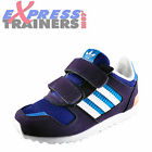 Adidas Originals ZX 700 CF Juniors Infants Girls Velcro Classic Purple Trainers