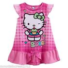 New HELLO KITTY Girl's Nightgown Size 2T Short Sleeve PJ's Sleep Pink Toddler